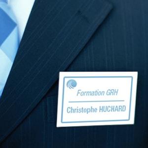 Badge nominatif et porte-badge