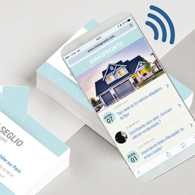 Cartes de visite connectées NFC 2 COPY-TOP