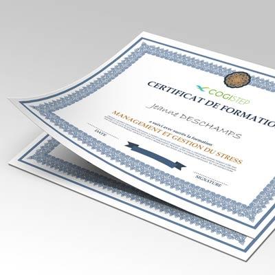 Impression de diplômes, certificats,et attestations