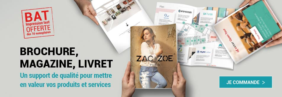 Brochure de qualite superieure