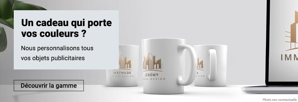 Nous personnalisons tous vos objets publicitaires pour un cadeau à vos couleurs