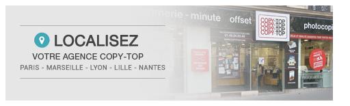 Votre imprimerie COPY-TOP à votre service pour l\'impression de vos documents à Paris, Marseille, Lyon, Lille