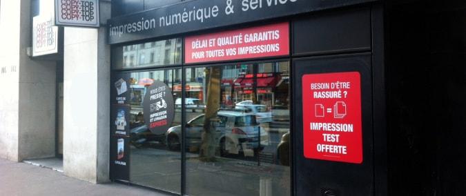 Vitrine imprimeur COPY-TOP Boulogne-Billancourt | agence Boulogne-Billancourt