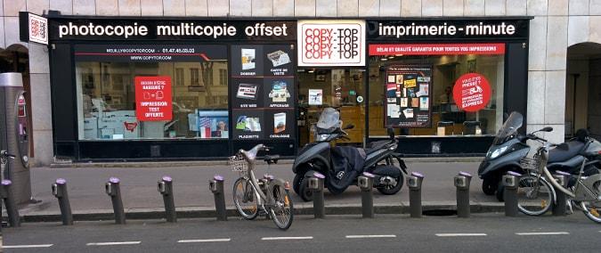 Vitrine imprimeur COPY-TOP Neuilly-Sur-Seine | agence Neuilly-Sur-Seine