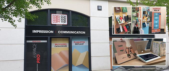 Vitrine imprimeur COPY-TOP SERRIS | agence Val d'Europe