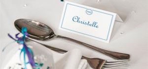 Marque place table de mariage