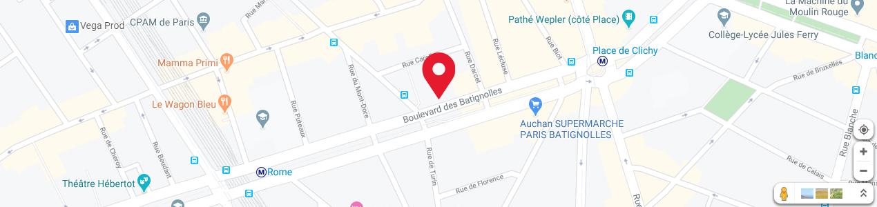 Localisation de votre imprimeur COPY-TOP Batignolles - Rome
