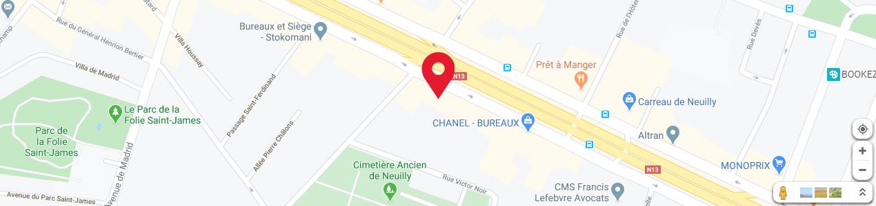 Localisation de votre imprimeur COPY-TOP Neuilly-Sur-Seine