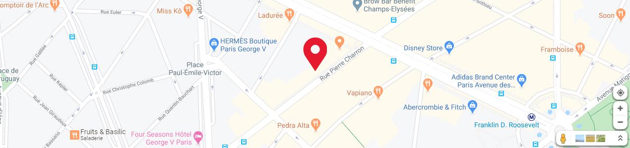 Localisation de votre imprimeur COPY-TOP Champs-Élysées