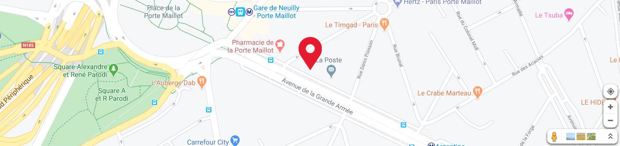 Localisation de votre imprimeur COPY-TOP Grande Armée - Maillot