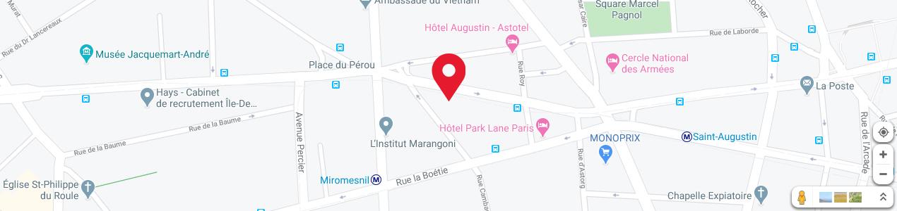 Localisation de votre imprimeur COPY-TOP Haussmann - Miromesnil