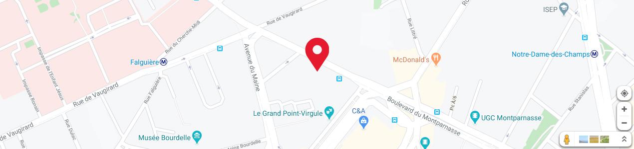Localisation de votre imprimeur COPY-TOP Montparnasse