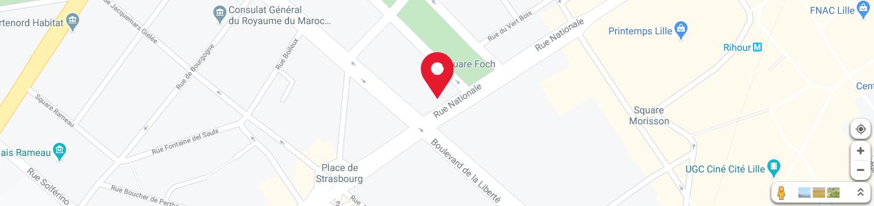 Localisation de votre imprimeur COPY-TOP Lille Nationale - Liberté