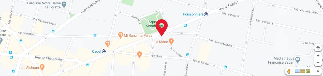 Localisation de votre imprimeur COPY-TOP Papillon - La Fayette