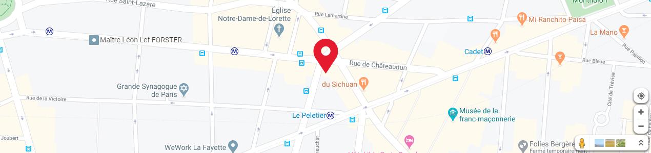 Localisation de votre imprimeur COPY-TOP Le Peletier - Châteaudun