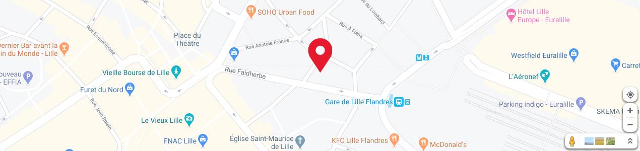 Localisation de votre imprimeur COPY-TOP Lille Flandres - Europe