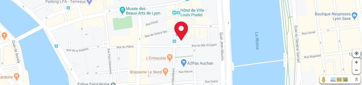 Localisation de votre imprimeur COPY-TOP Lyon Hôtel de Ville