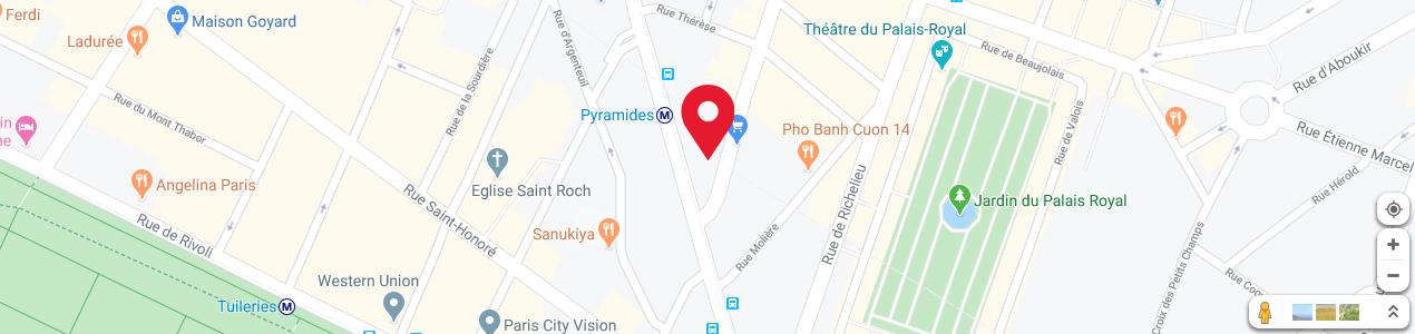 Localisation de votre imprimeur COPY-TOP Pyramides - Palais Royal