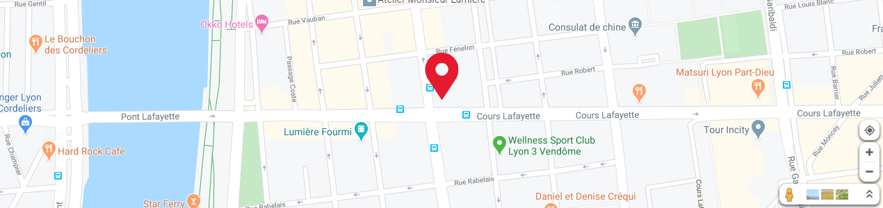Localisation de votre imprimeur COPY-TOP Lyon Part-Dieu / Lafayette