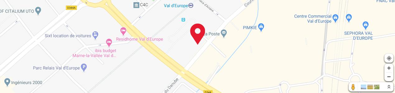 Localisation de votre imprimeur COPY-TOP Val d'Europe