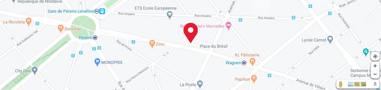 Localisation de votre imprimeur COPY-TOP Péreire - Wagram
