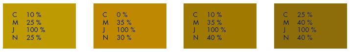 Les codes CMJN pour des impressions Or