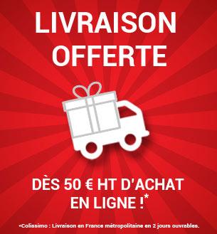 Livraison gratuite dès 50€ HT