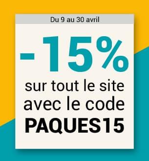 -15% sur tout le site