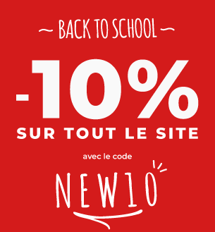 Back to school -10% sur tout le site
