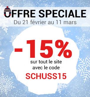 -15% sur tout le site avec le code SCHUSS15